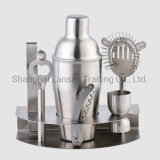 Home Cocktail Bar Set Stainless Steel 7 Piece Professional Bar Tool Kit