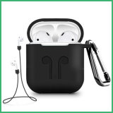 Black Cheap Portable Shockproof Silicone Case Cover for Apple Airpods 1 & 2