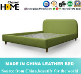 Modern Bedroom Nordic Green Fabric Bed for Hotel Furniture (HC275)