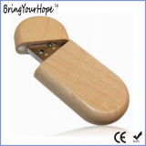 Wooden Box Packaging Custom Logo Wood USB Key (XH-USB-127)