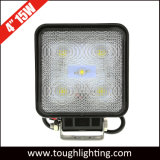Auto 4 Inch 15W Spot Flood Square LED Work Light for Truck Vehicles