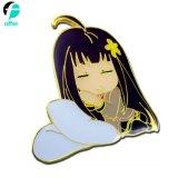 Wholesale Cartoon Figure Girl Enamel Lapel Pin Badge for Clothings Decoration