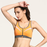 Cheap Wholesale Design Women Front Zip Sports Bra