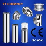 Stainless Steel Double Wall Insulated Chimney Flue Pipes Fittings Cowls for Wood Burning Stoves