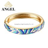 Fashion Jewelry Silver Bracelet Bangle Jewelry Bangle with Blue and White Enamel for Women and Men