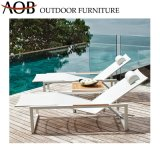 Modern Outdoor Seaside Poolside Vila Lounge Aluminum Furniture Sun Lounger Bed Beach Chair