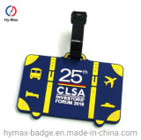 Cheap Custom Fashion Waterproof Rubber Plastic Travel Bag Name Tag Airplane Luggage Tag for Promotional Gifts