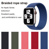 Nylon Cord Silicone/Woven Braided Solo Loop Strap for Apple Watch Series 6 5 4 3 2 1 Se Iwatch 44mm 42mm 40 mm 38mm Sport Band Wrist Bracelet Rubber Strap