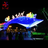 2020 New Year Iron Frame with Cloth LED Lighting Sea World Animal Festival Chinese Lanterns for Garden