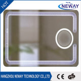 IP44 Touch Switch Silver Float Glass Bathroom Wall LED Mirror