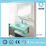 Water Transfer Printing Process Wall-Hung Glass Wash Basin (BLS-2084)