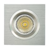 Lathe Aluminum GU10 MR16 Square Fixed Recessed LED Spotlight (LT2109)