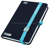 High Quality PU Leather Cute Notebooks with Elastic, Lanybook Style Notebook