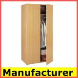 Wholesale 2 Doors Melamine Wooden Bedroom Wardrobe Design