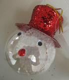 Handmade Chritsmas Glass Snowman Crafts