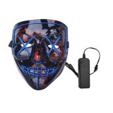 Scary Mask Cosplay LED Costume Mask EL Wire Light up for Halloween Festival Party