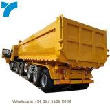 3 Axle U Type Dump Rear Tipper 60t Dumper Tractor Tri Axles 80 Ton Tipping Semi Trailer with Hydraulic Pump System