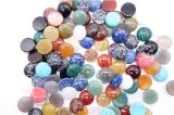 7 Size Natural Gem Stone Mixed Color Round Cab Cabochon Beads