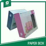 Custom Paper Gift Box with Plastic Handle (FOREST PACKING 010)