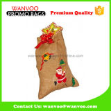 Fancy Customized Printed Drawstring Pouch for Christmas