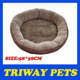 Round Flannel Dog Bed (WY161033)