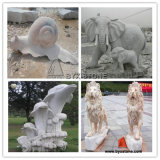 Granite / Marble Animal Stone Sculpture for Garden Decoration