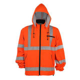 100% Polyester Winter Strip Reflective Jacket for Worker