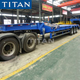 3 Axles 60~100 Ton Lowbed Trailer /Low Bed for Sale