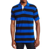 Men's Cotton Yarn Dyed Stripe Pique Polo Shirts