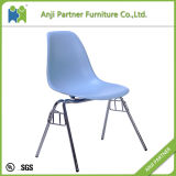 Blue PP Seat with Chromed Steel Base Dining Room Home House Chair (Hedy)