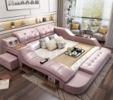 Home Furniture Multifunction Storage with Massage Music Design of Leather Sofa Bed Tatami Factory Wholesale Price