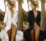 100%Cotton Lace Button Bikini Cover UPS Beach Dress for Women