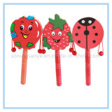 DTY0141 Wooden Happy Kids Toys Musical Educational Hand Rattle Drum Toys