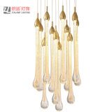 Hotel Lobby Project Pendant Lamp Bubble Glass Drop Lighting Aluminum Creative Chandelier