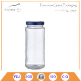 Hot Sales 12oz Paragon Glass Jars with Metal Cap