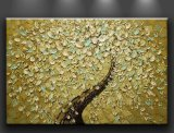 Modern Abstract Palette Knife Oil Painting on Canvas