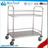 Hot Stainless Steel Hotel Housekeeping Food and Beverage Trolley