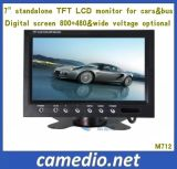 "7"" Standalone Car TFT LCD Monitor with 2 Video Inputs"
