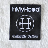 Black Satin Fabric Label for Outdoor Garment