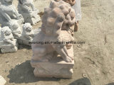Well Polished Natural Stone Lion Statue Wholesale Hand Carved Foo Dog Sculpture