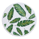 Plants Printed Round Beach Towel, Microfiber Circle Mat