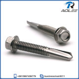 410 Stainless Heavy Duty Self Drilling Screw, Tek 5 Point