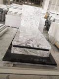 Natural Stone Grey Granite Tombstone for Cremetery Garden