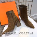 New Fashion Designer Women Ladies Winter Sheep Leather High Heel Boots Shoes