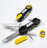 OEM Stainless Steel Multifunctional Outdoor Flashlight Compass Camping Pocket Knife