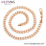 Rose Gold Wholesale Jewelry Environmental Copper Neutral Chain Flat Gold Filled Chains Gold Filled Necklace for Men