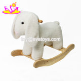 New Hottest Kids Gifts Wooden Baby Rocking Horse Toy with Cartoon Plush Sheep Shaped W16D112