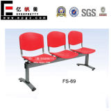 3-Seater Red Plastic Waiting Chair (SF-69)