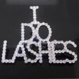 Custom Crystal Initial Letter Logo Brooch I Do Lashers Brooch