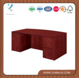 Bow Front Executive Desk with Two Lockable Pedestals